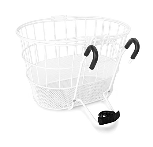 Sale!! Colorbasket Mesh Bottom Lift-Off Bike Basket, White