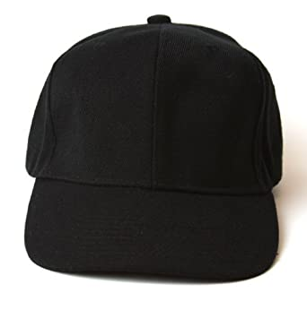 Plain Black Adjustable Hat