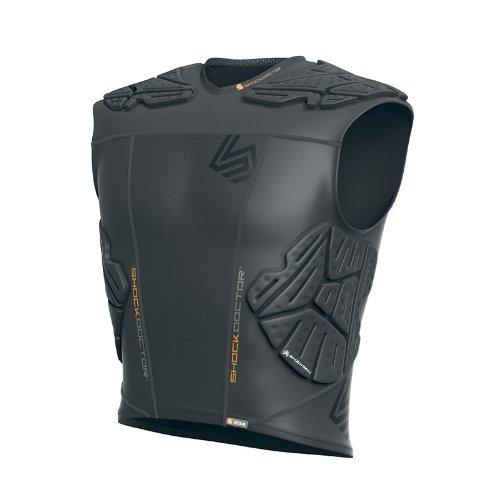 Shock Doctor Shockskin 5-Pad Sleeveless Impact Shirt (Black, Men's XXX-Large)