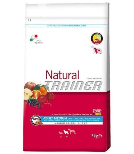 Trainer Natural Medium Adult Tonno Riso Alga Spirulina 12,5 killogram