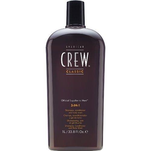 American Crew Men Classic 3-In-1 Shampoo, Conditioner & Body