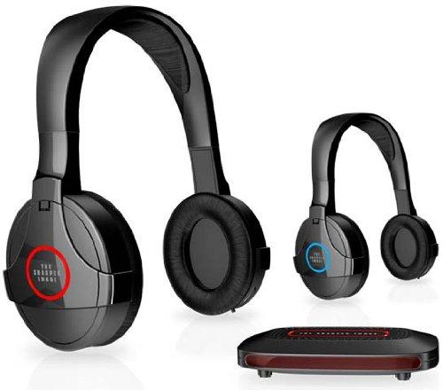 Sharper Image Bluetooth Wireless Earbuds: Sharper Image Wireless Headphones Black 2 Pack (SHP921-2) $49.99