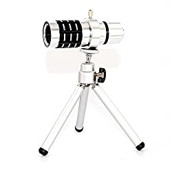 Apexel Telescope Lens Kit Phone Camera Lens 12x Zoom + Tripod and Back Case Cover for Samsung Galaxy Note 4