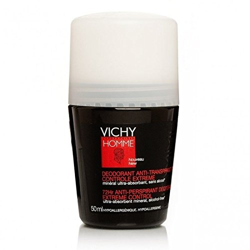Pack 4x Vichy Homme Deodorant Anti-perspirant Roll on Men 50ml 72hr