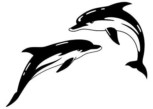 Wandtattooladen Wandtattoo - Delfin-Set Größe:130x97cm Farbe: Schablone
