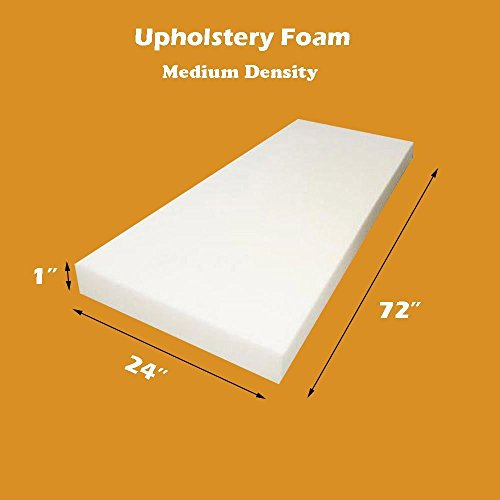 Cheap 1 x 24x 72 Upholstery Foam Cushion (Seat Replacement , Upholstery Sheet , Foam Padding)