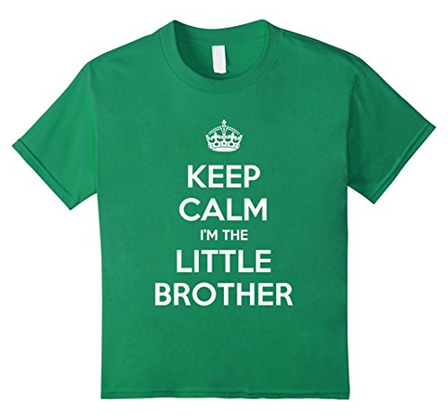 Kids Keep Calm I'm The Little Brother T-Shirt 6 Kelly Green (Im The Little Brother Shirt compare prices)