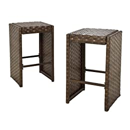 Belmont outdoor dining bar seating wicker furniture at for Belmont brown wicker patio chaise lounge