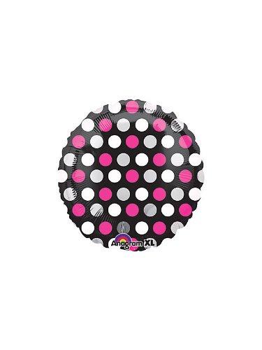 "18"" Pink & White Dots"