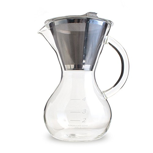 Best Coffee Maker Cone Filter : Hermiston Pot with Stainless Cone Filter (20oz) Best Coffee Maker Reviews