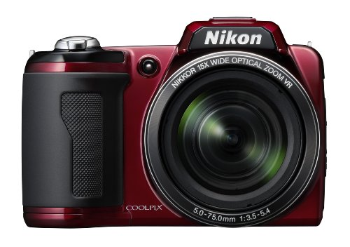 Nikon Coolpix L110 12.1MP Digital Camera with 15x Optical Vibration Reduction (VR) Zoom and 3.0-Inch LCD (Red)