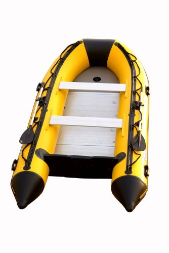 Image of Aquos 1.2mm PVC 12.5 Feet Inflatable Boat Sport Boat Dinghy Tender Rafts- Yellow - (DIC380AYB12W)