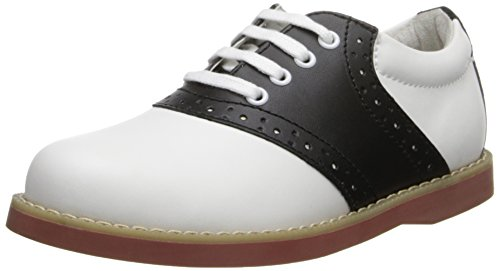 Academie Gear Cheer Saddle Shoe (Toddler/Little Kid/Big Kid),White/Black,13.5 M US Little Kid (Saddle Shoes For Girls compare prices)