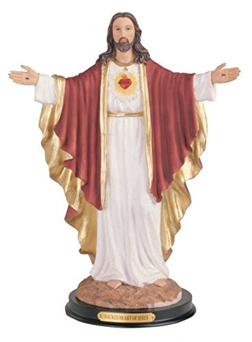 George S. Chen Imports Sacred Heart Of Jesus Holy Figurine Religious Decor, 12