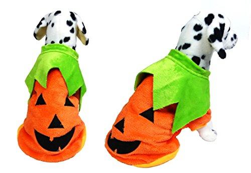 ハロウィン コスプレ ジャックランタン ペット 犬 イヌ 猫 ネコ ウェア 服 かぼちゃ パンプキン 仮装 衣装 パーティ (L)