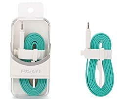 Noise Pisen High Quality iPhone 5 Lightning Cable 8 Pin USB Charger(SEAGREEN)