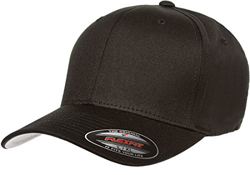 Premium Original Blank Flexfit V-Flexfit Cotton Twill Fitted Hat Cap Flex Fit 5001 Small / Medium - Black (Fitted Hats compare prices)