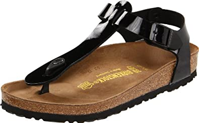 Women's Kairo Birko Flor T-Strap Sandal,Black Patent,41 M EU: Shoes
