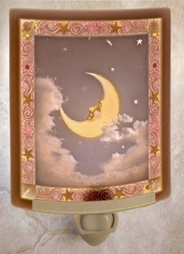 Man In The Moon Colored Lithophane Night Light front-93836