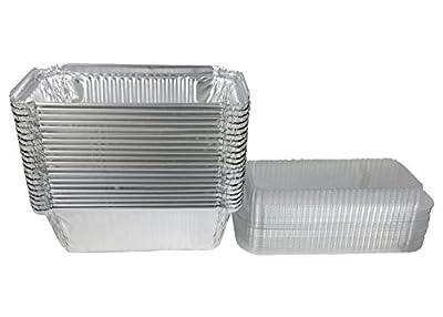 Disposable Aluminum Foil Bread/Loaf Pans 1lb. With Lids, 20 Pcs.(20 Pans + 20 Lids)