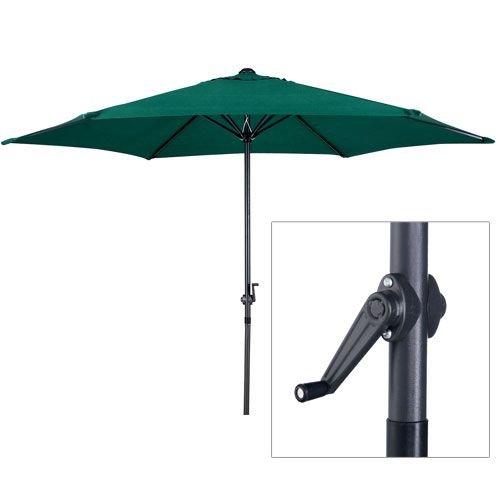 PARASOL New 2.7m Green Aluminium Powder Coated Garden Furniture Parasol With Crank
