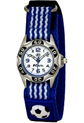 Ravel - Kids Football Blue And White Velcro Watch R1507.18