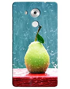 Omnam Rain Drops On Guava Printed Designer Back Cover Case For Huawei Honor Mate 8