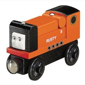 NEW 'RUSTY' THOMAS & FRIENDS WOODEN TRAIN ENGINE LOOSE ITEM