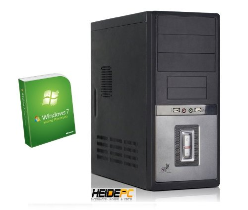 HeidePC® Business and Home PC N68 AM3 (AMD Dual Core AMD Phenom II X2 565 Black Edition (2x 3.4 GHz), CPU cooler quiet Arctic Alpine 64 Pro, ASUS M4N68T-M LE V2 Socket AM3 - nForce 630a, 4GB DDR3, Graphic card NVIDIA GeForce 7025, HDD 500 GB, 24x DVD±RW B