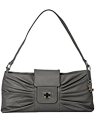 YL August Genuine Leather Made Top Zip Hand Bag With Zip & Turnlock Closure - B01L3R5W2O