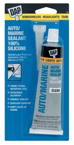 Dap 00694 2-4/5-Ounce Silicone Rubber Auto/Marine Sealant, Clear