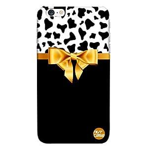 Designer iPhone 6 Plus Case Cover Nutcase-Black and White Yellow Ribbon