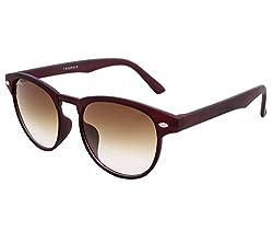 Laurels UV Protected Round Unisex Sunglasses -(LIT-0202|Brown Lens)
