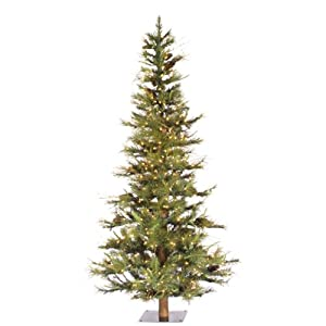 Vickerman 300-Piece Ashland Tree with Dura-Lit Light and 516 Tips, 5-Feet by 35-Inch, Clear