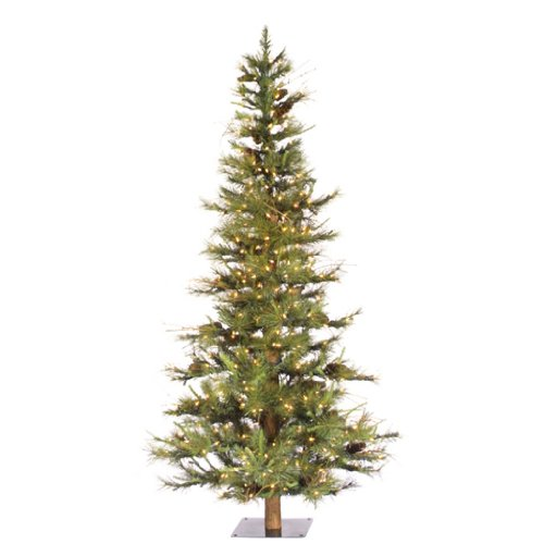 6 ft. Artificial Christmas Tree - Classic PVC Needles - Ashland Fir - Prelit with Clear Mini Christmas Lights - Vickerman A807561
