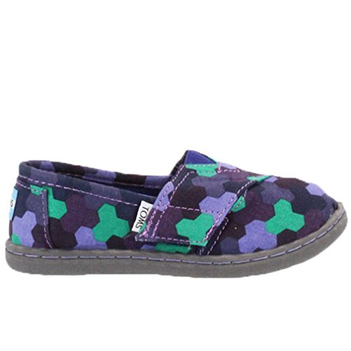 Toms Tiny Toddlers Classic in Purple Geometric 9