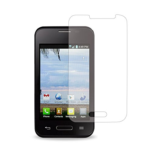 Reiko 2 Piece Screen Protector for LG Optimus Fuel L34C/LG Optimus Zone 2 - Retail Packaging - Clear (Lg Optimus Fuel Screen compare prices)