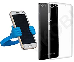 Jkobi Value Combo of Soft Silicone TPU Jelly Case Back Case Cover with Mobile Stand For Gionee Elife S7 -Transparent