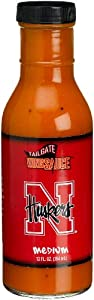 Tailgate University of Nebraska Medium Wing Sauce, 12-Ounce Glass Bottles (Pack of 6) by Tailgate