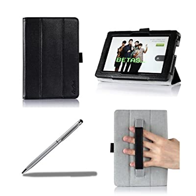 ProCase Kindle Fire Tablet Cover Case, Tri-Fold Leather Smart Cover Case, Auto Sleep/Wake Feature, Built-in Stand, with bonus Stylus Pen from ProCase