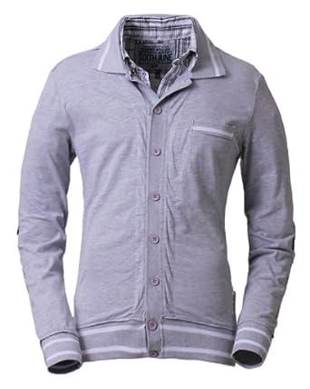 Sixth June - Pull chemise associée gris - Couleur : Gris - Taille : XL