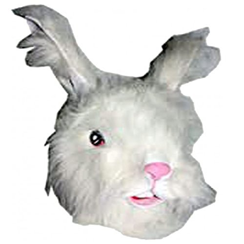 Easter Bunny Rabbit Full Face Fur Rubber Mask