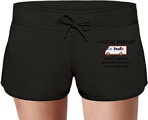 i-love-my-fedex-guy-las-damas-verano-sudor-shorts-summer-sweat-shorts-for-women-ladies-80-cotton-20p