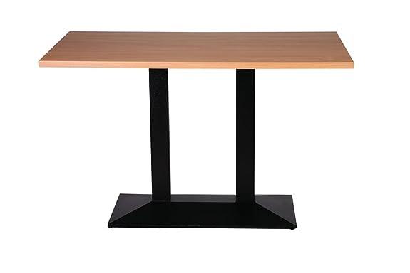 Quinn ghisa-Base da tavolo, misura grande, 80 x 120 cm, rettangolare, in quercia