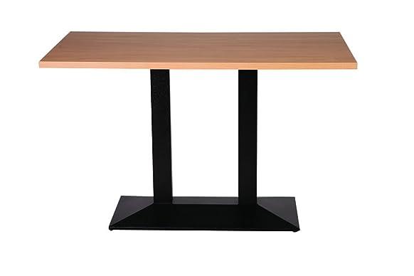 Quinn in ghisa, misura grande, con doppia Base da tavolo, 70 x 120 cm, in legno di faggio, rettangolare