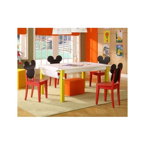 Amazon.com - MICKEY MOUSE CLUBHOUSE ART CRAFT TABLE WITH FOUR CHAIRS