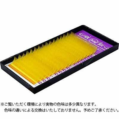 カラーエクステ シート イエロー Jカール 10mm×0.15mm