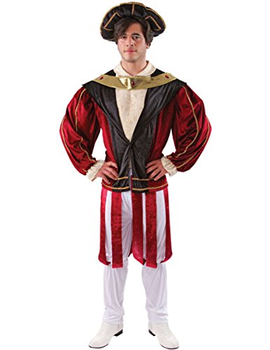 Adult Mens King Henry the 8th VIII Fancy Dress Costume Royal Outfit