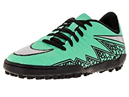 Nike Kids Jr Hypervenom Phelon II Tf Grn Glw/Mtllc Slvr/Hypr Orng/B Turf Soccer Shoe 5 Kids US