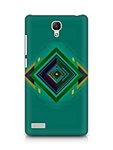 Amez designer printed 3d premium high quality back case cover for Xiaomi Redmi Note (Abstract 2)